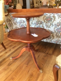 Two tier pie table.