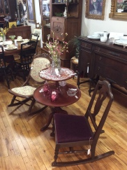 """Lovely parlor table. If only """"furniture could talk""""!"""