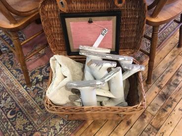 Vintage wooden letters.