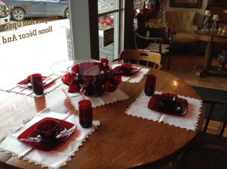 Check out our Royal Ruby Red dishes.