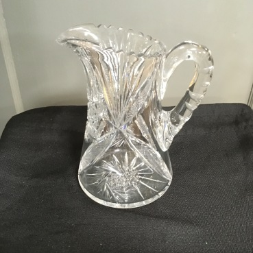We have a large selection of glass, crystal and cut glass pitchers.