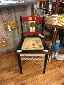 Folk art chair. Sweet!