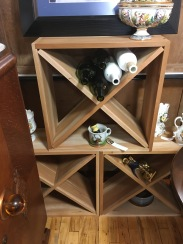 Wine anyone? These wine racks are very versatile. They can be stacked and easily moved around.
