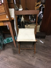 Vintage camp stools. So rare to find one with a back.