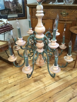 Stunning French Country chandelier with 12 lights.