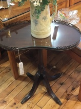 Sweet Ferguson kidney shaped side table.