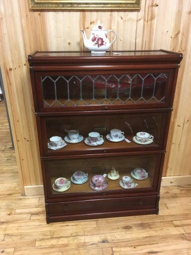 Beautiful Barrister's cabinet with leaded glass