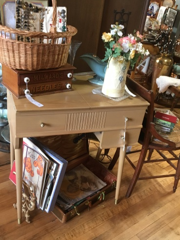 MCM Sewing Machine and Cabinet