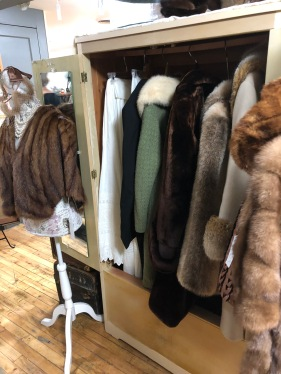 We have a variety of vintage coats and furs.