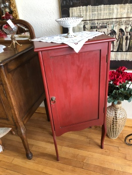 Vintage painted sheet music cabinet