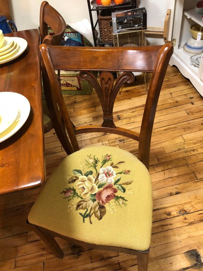Beautiful Tell City Needlepoint Chairs