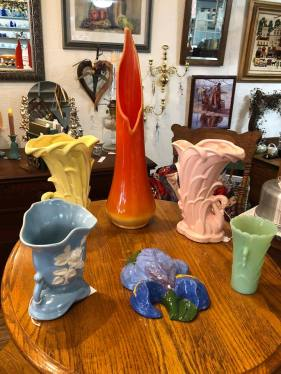 We have a variety of vintage Hall, Hull, USA, McCoy.