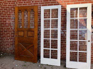 We have several styles of vintage doors.