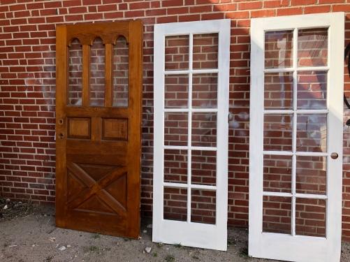 We have several styles of vintage doors.