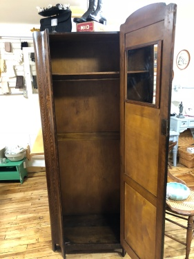 Inside of Art Deco Armoire