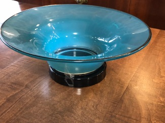 Blue Jade Glass Bowl
