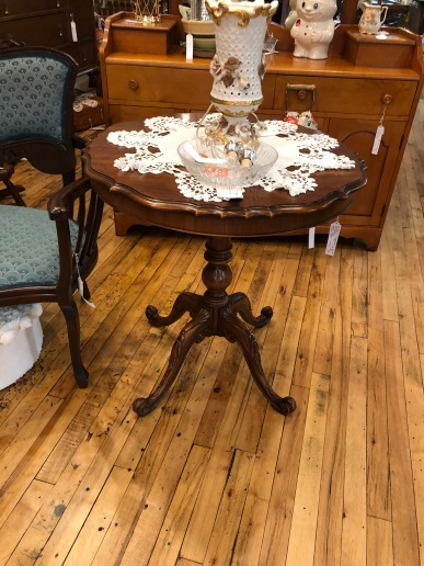 Beautiful round pecan parlor taable