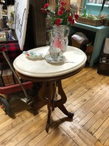 Marble topped parlor table