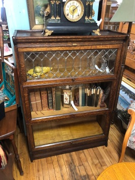 Gorgeous Lawyer's cabinet with leaded glass