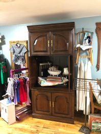 Awesome vertical entertainment armoire.