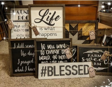Farm Haus Design wood signs. Beautiful!