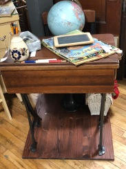 Sweet antique school desk.