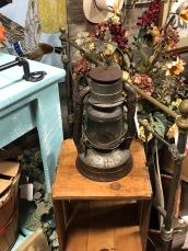 Antique kerosene lantern.