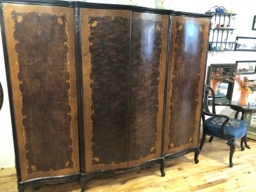 Gorgeous inlaid wood armoire