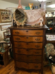 Gorgeous two-tone serpentine highboy