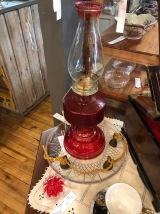 Variety of Antique Oil Lamps