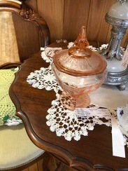 We have a variety of depression glass.