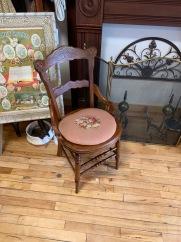 Set of 3 Needlepoint Seat Chairs