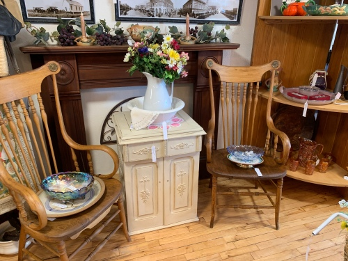 Beautiful Antique Fanback Chairs