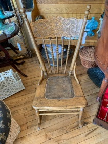 Sweet Cane Seat Pressed Wood Rocker