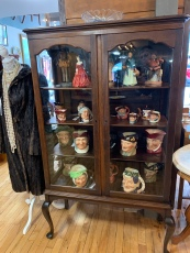 Gorgeous Queen Anne Style China Cabinet