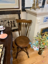 Antique High Back Piano Stool