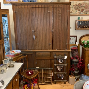 Primitive Cabinet with Western NE History