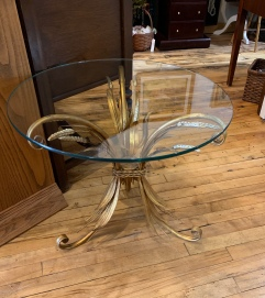 Hollywood Regency MCM glass table