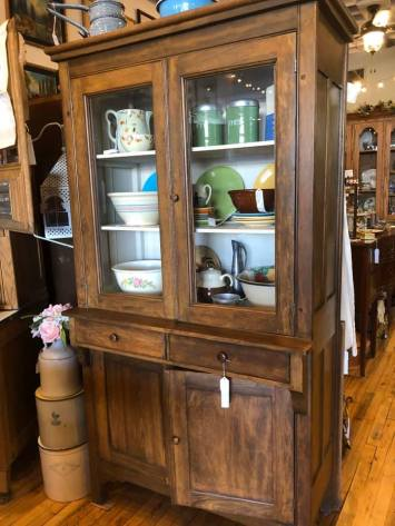 Primitive Step Back Cabinet