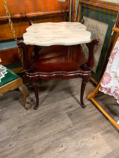 Marble Topped Victorian Table
