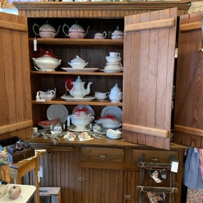 Love Ironstone? T & F has a great assortment of vintage pitchers, platters, etc.