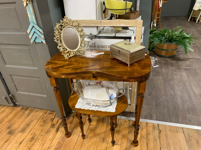 100 Year Old Vanity, Stool and Mirror