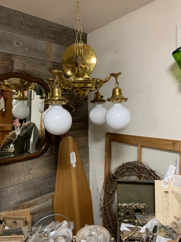 Four Globe Vintage Ceiling Light