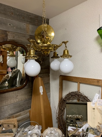 Four Globe Vintage Ceiling Light