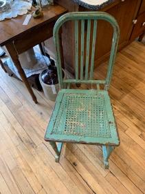 Rare metal rocking chair