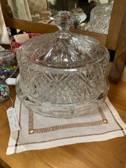Lead Crystal Cake Plate with Dome