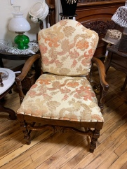 Upholstered Curved Back Chair