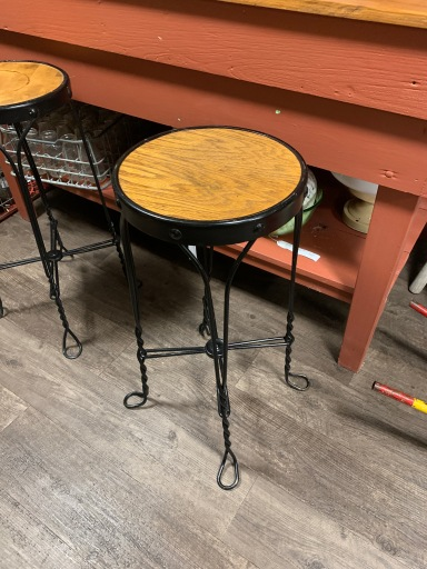 Antique Ice Cream Stool-Pair