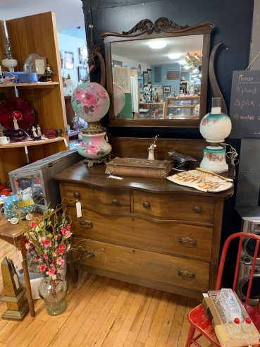 Vintage Three Door Dresser w/Mirror
