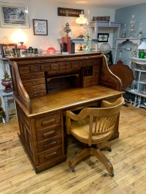Fabulous Antique Roll-top Desk!